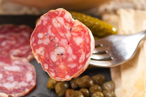 organic salame and pickles with pita bread 15.jpg