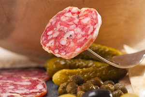 organic salame and pickles with pita bread 16.jpg