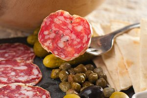 organic salame and pickles with pita bread 19.jpg