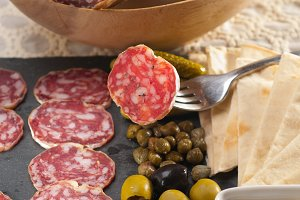 organic salame and pickles with pita bread 18.jpg