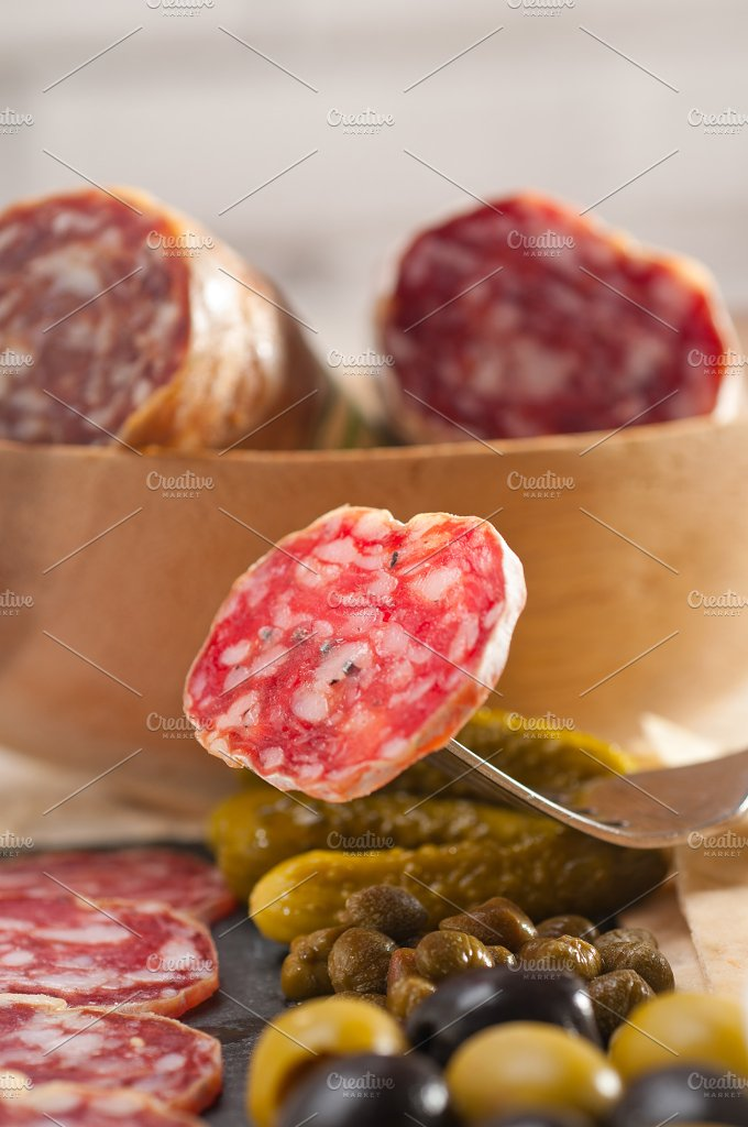 organic salame and pickles with pita bread 23.jpg - Food & Drink