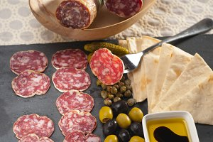 organic salame and pickles with pita bread 22.jpg