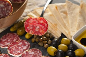 organic salame and pickles with pita bread 24.jpg