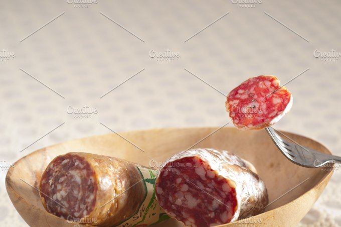 organic salame and pickles with pita bread 28.jpg - Food & Drink