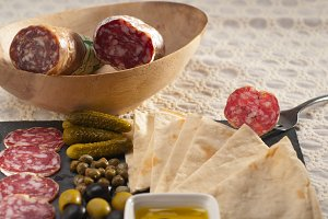 organic salame and pickles with pita bread 27.jpg