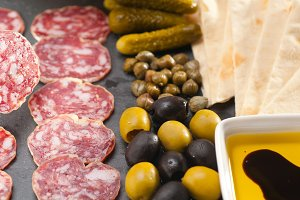 organic salame and pickles with pita bread 31.jpg