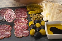 organic salame and pickles with pita bread 32.jpg