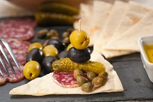 organic salame and pickles with pita bread 35.jpg