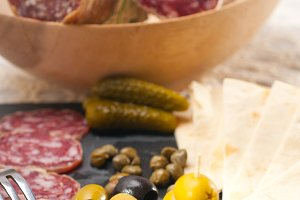 organic salame and pickles with pita bread 36.jpg