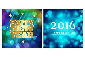 Set of 4 New Year backgrounds