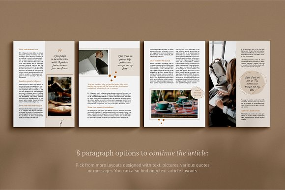 eBook / CANVA, INDD / Kayla in Magazine Templates - product preview 7