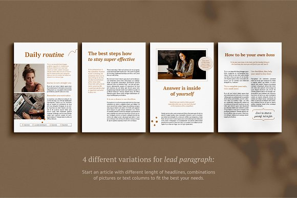 eBook / CANVA, INDD / Kayla in Magazine Templates - product preview 13