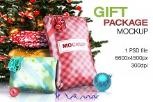 Wrapped Gift Packaging Bags Mockup