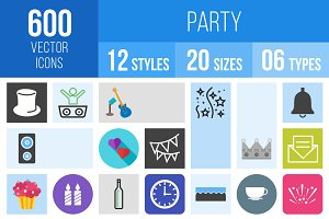 600 Party Icons