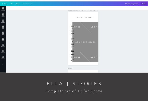 Instagram Story Templates for Canva in Instagram Templates - product preview 1