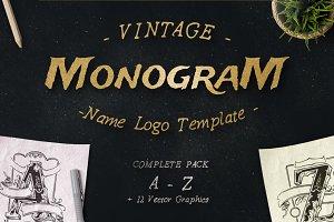Vintage Monogram Logo Complete Pack