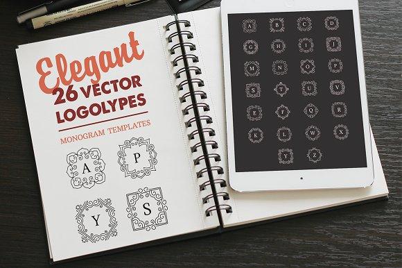 Vector Monogram LOGO. Logotype set. - Logos