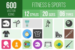 600 Fitness & Sports Icons