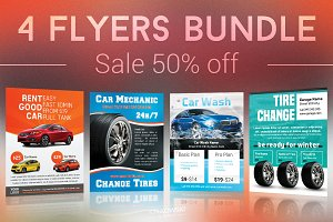 Cars Flyers Bundle