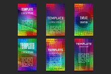Set of colorful vector templates