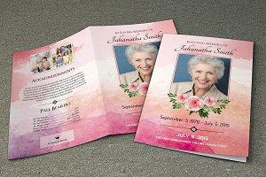 Funeral Program Template-V269