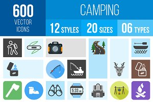 600 Camping Icons
