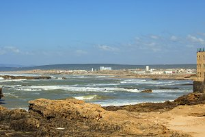 Beach and sea at Essaouira
