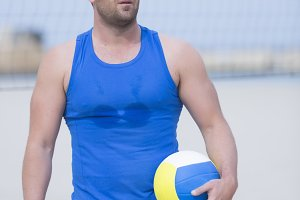 beach volleyball male player