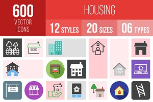 600 Housing Icons