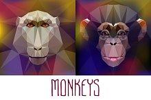 Monkeys. Vector