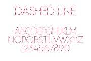 Dashed Line Font