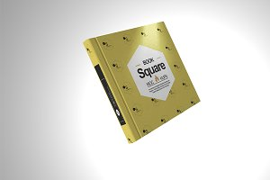 Square Book Mock-Up 12
