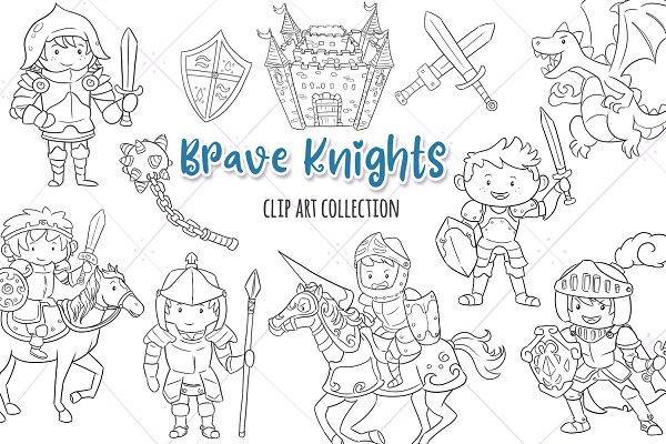 Brave Knights Digital Stamps