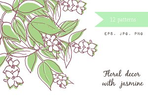 12 Wedding Cards with jasmine