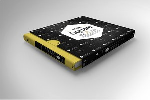 Square Book Mock-Up 13