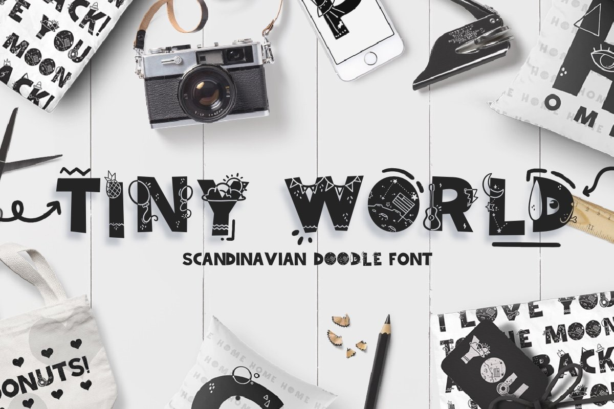 Tiny World! Scandinavian Doodle Font in Display Fonts - product preview 8