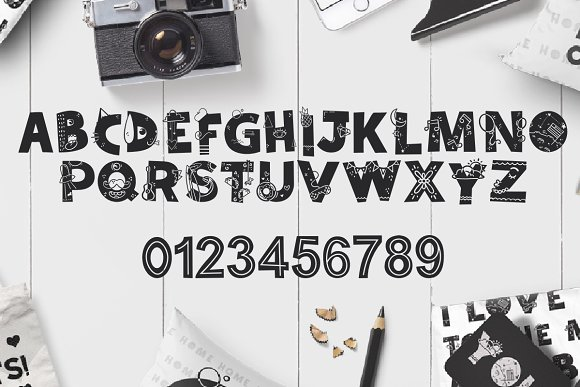 Tiny World! Scandinavian Doodle Font in Display Fonts - product preview 1