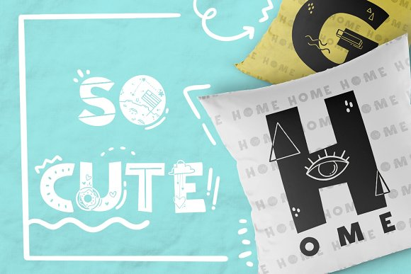Tiny World! Scandinavian Doodle Font in Display Fonts - product preview 2