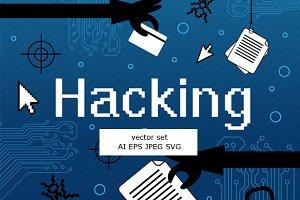 Hacker vector set