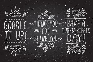 Thanksgiving - handdrawn elements 3