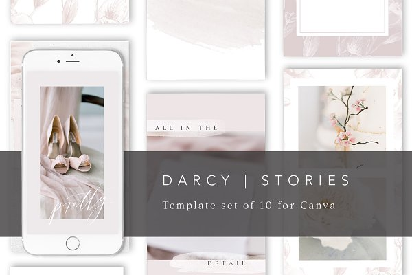 10 Pink Instagram Story Templates