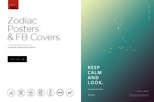 Zodiac Signs Posters & FB Covers