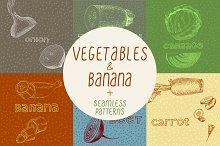 Vegetables: illustrations & patterns