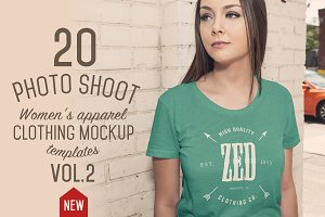 20 Women's Apparel Mockups VOL.2