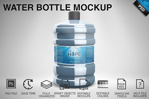 Water Bottle Mockup 01