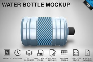 Water Bottle Mockup 03