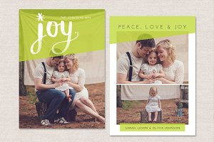 Christmas Card Template CC041