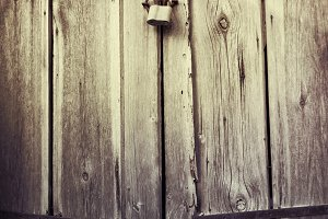 old wood texture with padlock