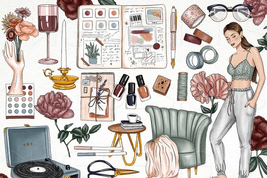 Creative Aesthetic Clip Art Bundle