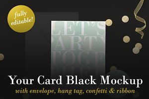 Your Card Black Mockup